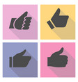 thumbs up on a light colored square vector image