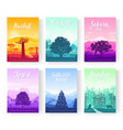 types of trees from around the world beautiful vector image