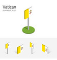 vatican flag set of 3d isometric icons vector image