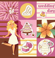 wedding day background vector image