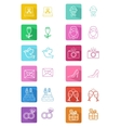 Wedding flat icons vector image