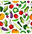 Wholesome fresh vegetables seamless pattern vector image vector image