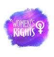 womens rights lettering vector image vector image