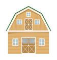 wooden farming barn vector image