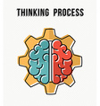Thinking process in the work place concept design vector image