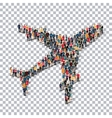 aircraft people sign 3d vector image