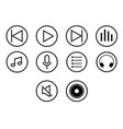 icon set of player media button - iconic design vector image