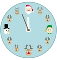 Christmas Clock Face vector image