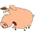 A cute pig farm animal cartoon vector image vector image