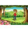 A young gentleman at the jungle vector image vector image