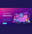 academic laboratory landing page vector image vector image