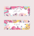 accessories for girls banners vetor vector image