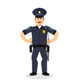 Angry policeman wrathful Cop Aggressive officer vector image vector image