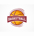 basketball logo american sports symbol and icon vector image