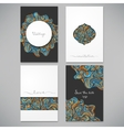 beautiful card set vector image