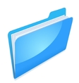 Blue file folder icon vector image vector image