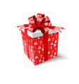 christmas gift new year concept vector image vector image