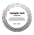 circle dotted tire track vector image vector image
