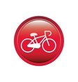 circular button with bicycle icon vector image vector image