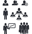 collection businessmen silhouettes vector image