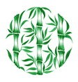 decorative circle bamboo vector image
