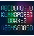 Digital Letters and Numerals vector image
