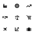 economy 9 icons set vector image vector image