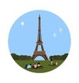 Eiffel tower icon Paris sign vector image vector image