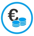 Euro Coin Stacks Rounded Icon vector image vector image