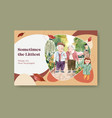 facebook template with national grandparents day vector image vector image