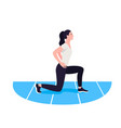 fit woman exercising warmup girl do sports vector image