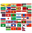Flags of the countries of Asia vector image vector image