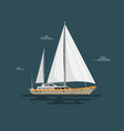 flat yacht vector image vector image