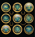 gold and blue badge retro vintage sale collection vector image