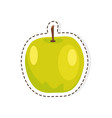 green apple flat isolated sticker or icon