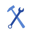 hammer icon with wrench vector image