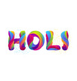happy holi colorful background vector image