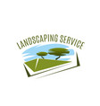icon for landscaping service compamy vector image vector image