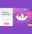 leadership landing page template vector image vector image