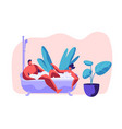 man and woman take bath together in bathroom vector image