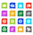 marketing and e-commerce icon set vector image