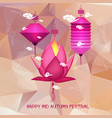 mid autumn festival polygonal background with vector image vector image