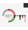Minimal line design logo key icon vector image vector image