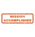 Mission Accomplished Rubber Stamp vector image vector image
