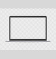 modern laptop mockup object isolated on vector image vector image