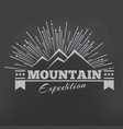 mountains or peak logo emblem outdoor vector image vector image
