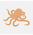 octopus isometric icon vector image