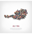 people map country austria vector image