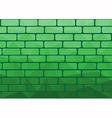 Polygon brick green vector image vector image