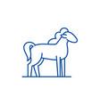 pony line icon concept pony flat symbol vector image vector image